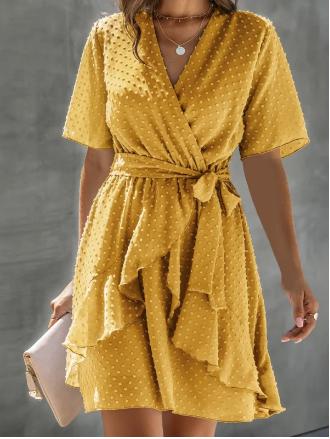 vestido casual verano nikkey amarillo