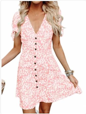 vestido corto verano cora rosa