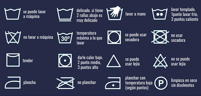etiquetas lavado de ropa